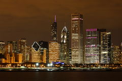 Chicago at night Royalty Free Stock Photos
