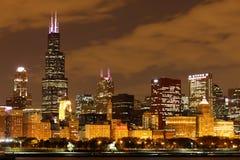 Chicago at night Stock Photos