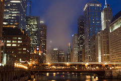 Chicago at night Royalty Free Stock Photos