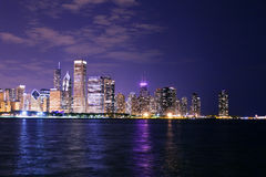 Chicago at Night Royalty Free Stock Photo