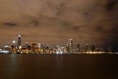 Chicago at Night. Taken near Adler Planetarium, Chicago, IL Royalty Free Stock Image