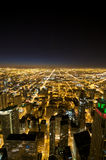 Chicago by night. Hancock Building Observatory View. Chicago Downtown Royalty Free Stock Photography