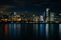Chicago at night Stock Images