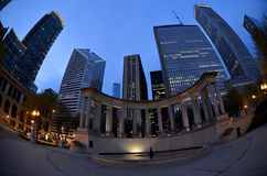 Chicago Night Buildings NFL Draft 2015 Stock Images