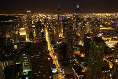 Chicago night Stock Image