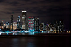 Chicago Night Skyline Royalty Free Stock Image