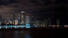 Chicago Night Skyline Stock Image