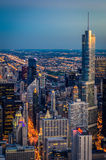 Chicago at Night. Skyscrapers of Chicago at Night Royalty Free Stock Image