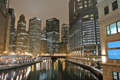 Chicago night view Stock Image