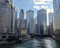 Chicago no rio Fotografia de Stock