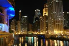 chicago noc Obraz Stock