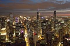 chicago noc Fotografia Royalty Free