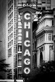 Chicago Noir - Theater-Zeichen Stockbild