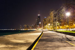 Chicago norr strand Royaltyfri Foto