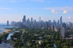 Chicago norrsida i sommar Royaltyfria Bilder