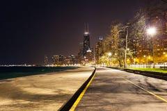 Chicago North Beach. At Night Royalty Free Stock Photo