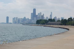 Chicago from the north shore2 Royalty Free Stock Photo