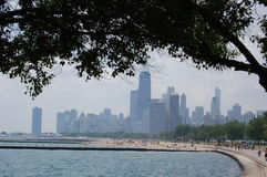 Chicago from the north shore Stock Photos