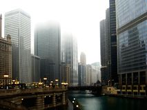 Chicago in November stock images