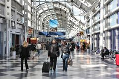Chicago O'Hare flygplats Arkivfoto