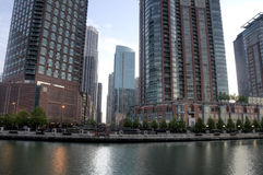 Chicago from the Ohio River Royalty Free Stock Images