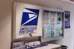 Chicago - Około Maj 2018: USPS urzędu pocztowego lokacja USPS jest Odpowiedzialny dla Providing poczta dostawę II Zdjęcia Royalty Free