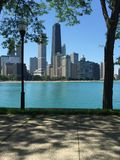 Chicago op een zonnige dag Stock Afbeeldingen