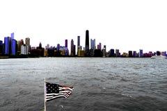 Chicago op Meer Michigan stock fotografie