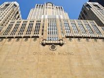 Chicago Opera Building. Big facade of the Chicago Civic Opera Building Stock Photo