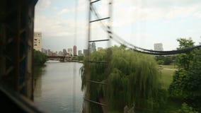 Chicago Over The Bridge stock video