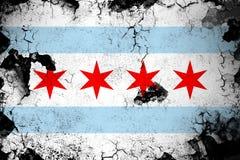 Chicago oxidada y ejemplo de la bandera del grunge libre illustration