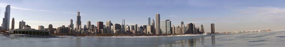 chicago panorama Royaltyfri Foto