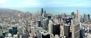 chicago panorama Arkivbild