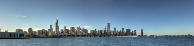Chicago-Panorama (HDR) Stockbilder