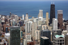 Chicago panorama from high tower Royalty Free Stock Photos