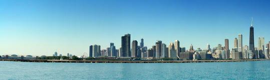 chicago panorama- horisont Arkivbild
