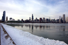 Chicago panoramic view Royalty Free Stock Images