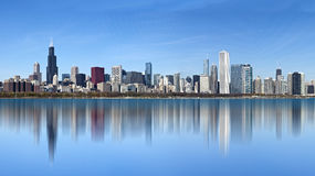 Chicago - Panoramic view from Lake Michigan Stock Photography