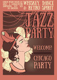 Chicago party poster Stock Image