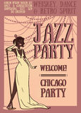 Chicago party poster Stock Photo