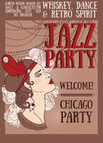 Chicago party poster Royalty Free Stock Photography