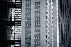 Chicago pattern - horizontal, bw Stock Photos