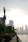 Chicago - pilastro del blu marino Immagini Stock