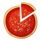 Chicago pizza top view. Cartoon food illustration stock illustration