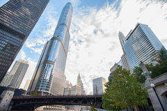 Chicago is the place for tourists and its Stock Photography