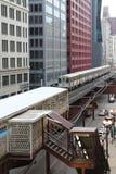 Chicago pociąg Zdjęcie Stock