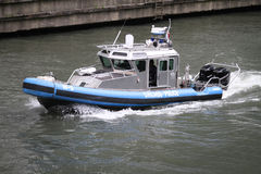 Chicago Police boat Royalty Free Stock Images