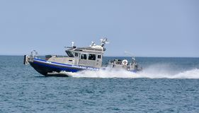 Chicago Police Boat Stock Image
