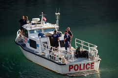 Chicago Police Department Marine Unit Patrolling Stock Image
