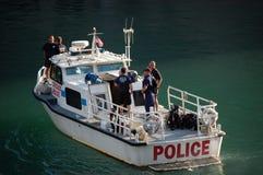 Chicago Police Department Marine Unit Patrolling Stock Image